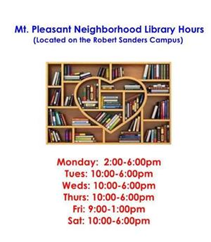 Mt Pleasant Neighborhood Library Hours
